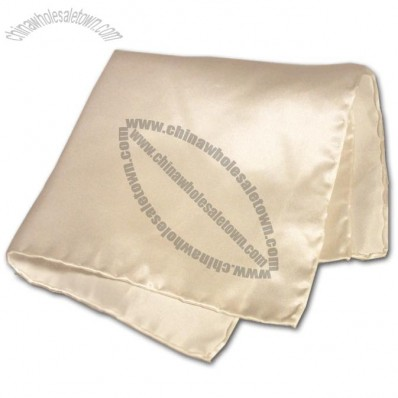 Charming Charmeuse White Pocket Silk Hankie