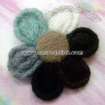 Charming Knitted Flower Brooch