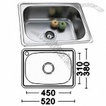 Cheap Price Single Bowl Top Mount Stainless Steel Kitchen Sink