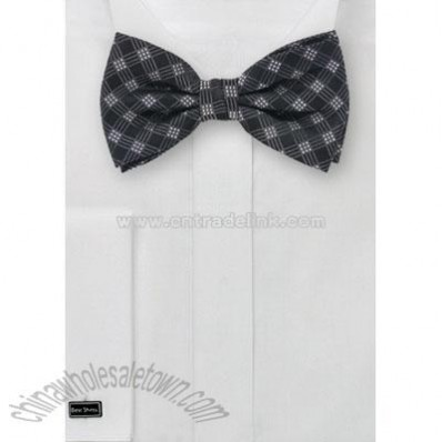 Checkered Bow Tie & Matching Pocket Square