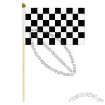 Checkered Hand-Held Flags-Small