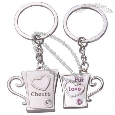 Cheers for You Cup Couple Keychain