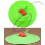 Cherry Leak Proof silicone Tea Coffee Mug Cup Lid