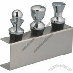 Chess Design Bottle Stopper Set