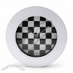 Chess Design Leather Clock
