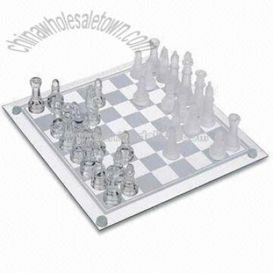 Chess Set with Transparent and Non-transparent Piece