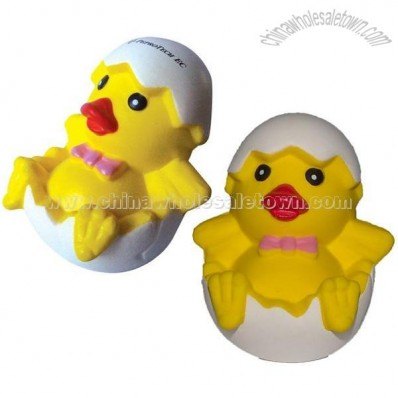 Chick in Egg PU Stress Relievers