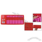 Children Magenta Beads Plastic Frame 11 Rods Abacus Counting Tool Red
