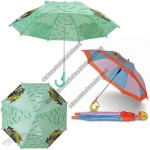 Children Straight Umbrella With Whistle
