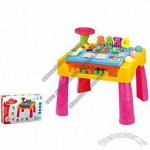 Children's Educational Toys Music Activities Chair with Building Blocks