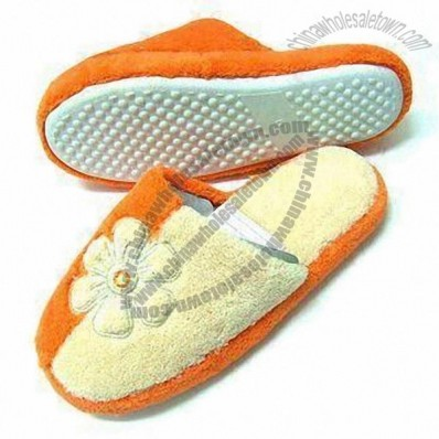 Children's Indoor Slippers with Soft Terry Upper and TPR Outsole