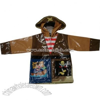 Children's Kidorable Pirates Raincoat