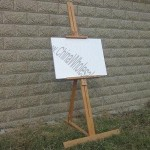Children's Single-level Wooden Easel