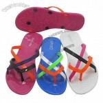 Children's Slippers, Made of PVC Upper, PVC Insole and PVC Outsole