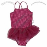 Children's Swimwear with Net Yarn Skirt