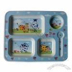Children's Tray, Made of Melamine Material