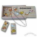 Children's Wooden Domino Set, Composed of Chess/Box