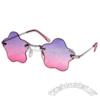 Children's flower-star shaped sunglasses