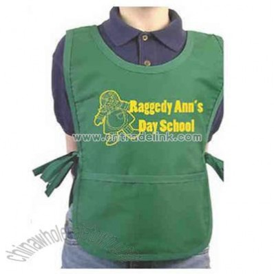 Children's smock apron with pocket