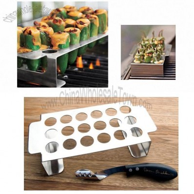 Chile Pepper Grill Rack and Corer