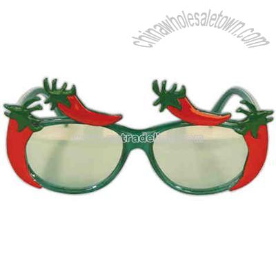 gold star chili logo. Chili pepper sunglasses