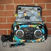 Chillin iPod Ready Radio Cooler, Flower Power
