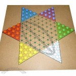 Chinese Checker Game Set With 6-Color Fine Plastic Marbles