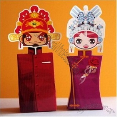 Chinese Style Bride and Groom Wedding Favor Boxes