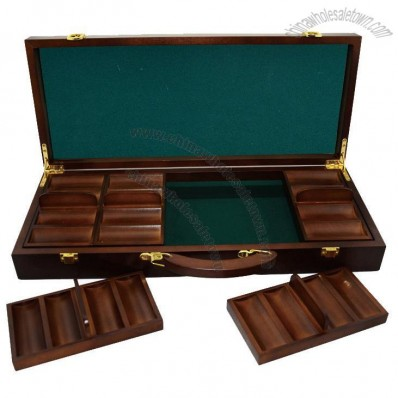 Chip box with 5 trays can hold 500pcs 4cm chips &  Playing cards DEALER