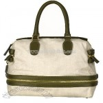 Chloe Natural Canvas Expandable Weekend Tote