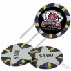 Chocolate Poker Chips Candy With 4 Color Process Decal
