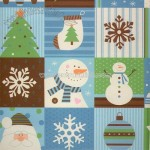 Chocolate Santa and Snowmen Wrapping Paper