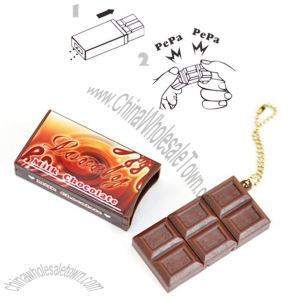 Chocolate Shape Stress Reliever Breaking Toy with Keychain Suppliers