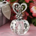 Choice Crystal Collection heart and cross design perfume bottle favors
