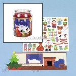 Christmas Candle Wrap Sticker Scenes