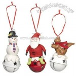 Christmas Characters on Bells Tree Decorations