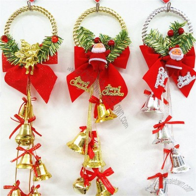 Christmas Decorations with Bells and Bowknot