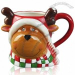 Christmas Elk Relief Coffee Mugs