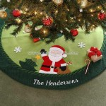Christmas Family Personalized Santa Tree Skirt