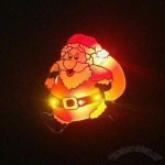 Christmas Flashing Pin Badge