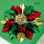 Christmas Flower Bows Set of 6