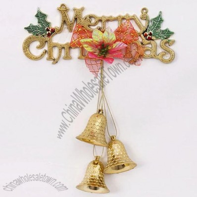 Christmas Letters with Bell adn Xmas Flower Ornaments