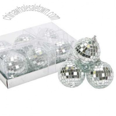 Christmas Mirror Balls - Box of 6