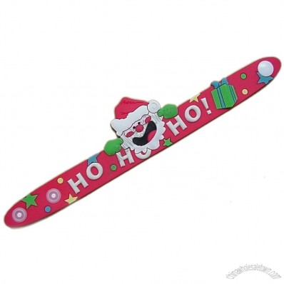 Christmas PVC Slap Wristband