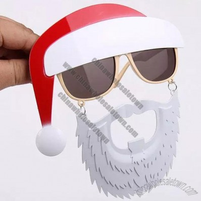 Christmas Party Santa Claus Hat Beard Glasses Set
