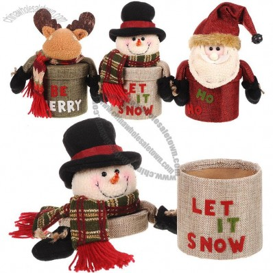 Christmas Plush Doll Gift and Candy Box