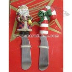 Christmas Snowman Butter Knife and Santa Cheese Knife