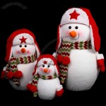 Christmas Snowman Stuffed Dolls with Ear Cap