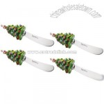 Christmas Tree Canape Knives (Set of 4)
