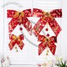 Christmas Tree Decorations Fabric Bow